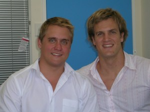 Adam and Toby in Bluewire's first serviced office in Ashgrove in 2005.
