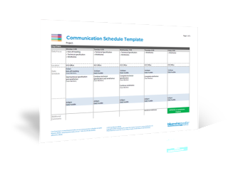 Communication Schedule Template - Project Management - 3D Icon