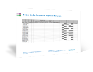 Social Media Corporate Approval Template - 3D Icon
