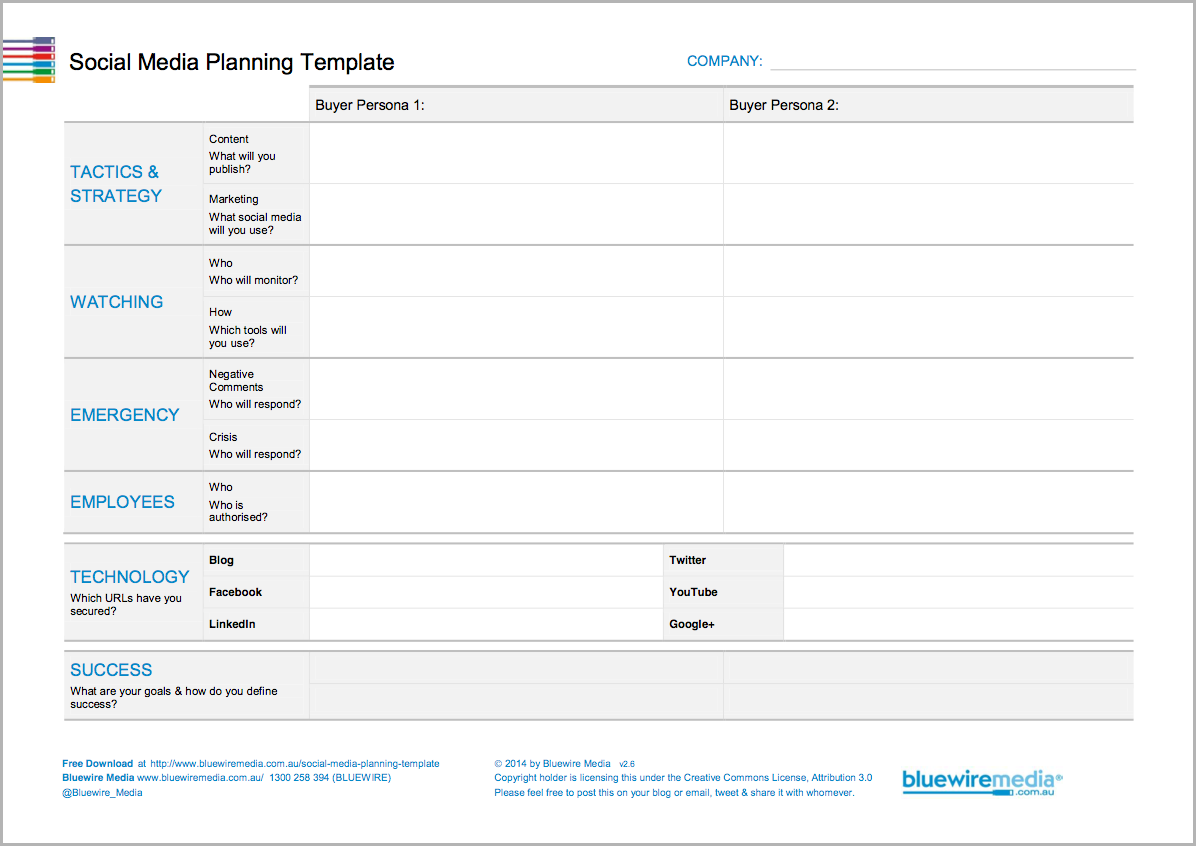 How to create a social media plan step by step for Advertising media plan template