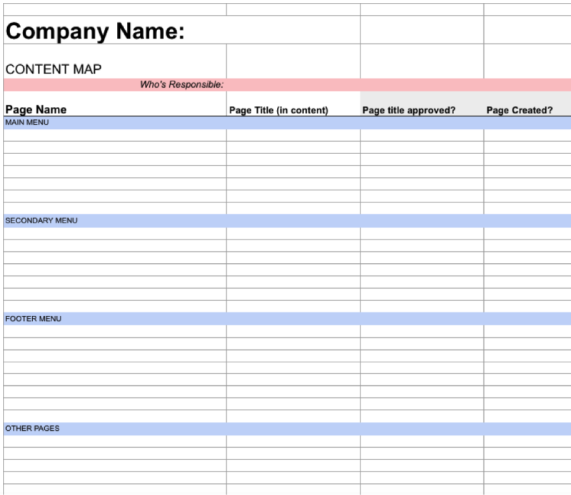 a simple project plan template to collaborate on web content