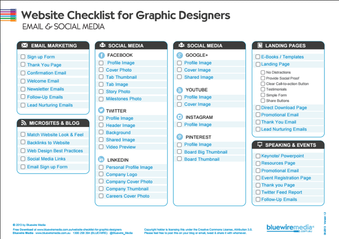 An Easy-To-Use Graphic Design Project Checklist for Websites
