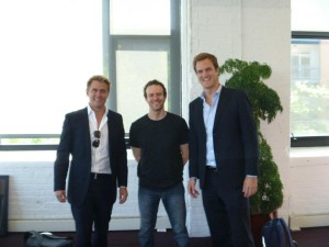 Adam Franklin, Jason Fried, Toby Jenkins at 37Signals Office