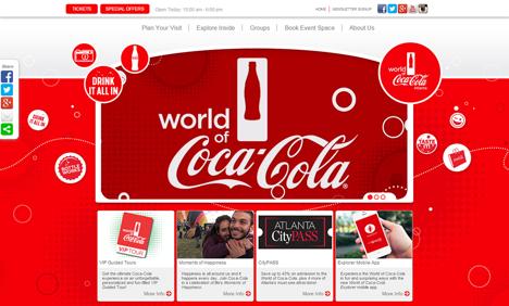 Coca Cola - colour in web design