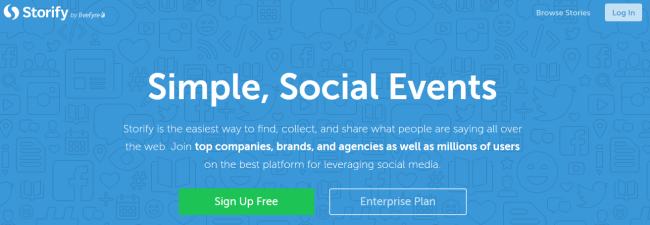 storify - example of a content marketing tool