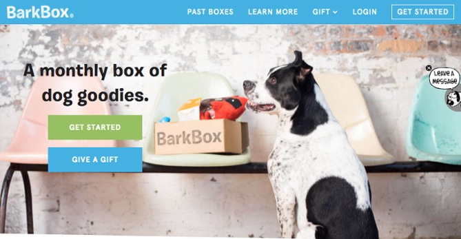 Barkbox for content marketing sales funnel template
